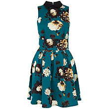 Buy Closet Floral Print Collared Scuba Dress, Multi Online at johnlewis.com