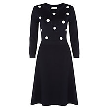 Buy Hobbs Zaya Dress, Navy Ivory Online at johnlewis.com