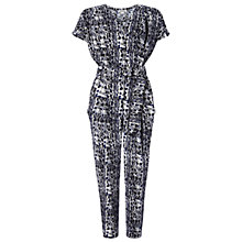Buy Whistles Snake Print Jumpsuit, Blue Online at johnlewis.com
