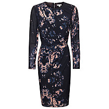 Buy Whistles Tree Print Bodycon Dress, Black/Multi Online at johnlewis.com