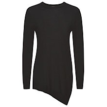 Buy Whistles Mai Asymmetric Hem Jumper, Black Online at johnlewis.com