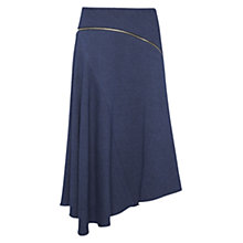 Buy Whistles Textured Chambray Zipped Skirt, Blue Online at johnlewis.com