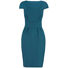 Buy Closet Cap Sleeve Ponti Dress, Green Online at johnlewis.com