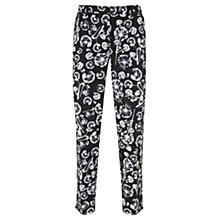 Buy Mint Velvet Anna Print Cotton Capri Trousers, Multi Online at johnlewis.com