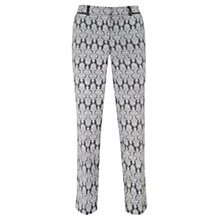 Buy Mint Velvet Gabi Print Cotton Capri Trousers, Grey/White Online at johnlewis.com