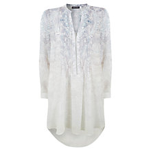 Buy Mint Velvet Lorna Print Longline Blouse, Ivory Online at johnlewis.com