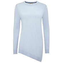 Buy Whistles Mai Asymmetric Hem Jumper, Pale Blue Online at johnlewis.com