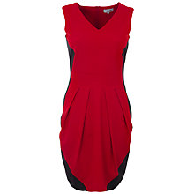 Buy Wolf & Whistle Fitted Pleat Dress, Red/Black Online at johnlewis.com