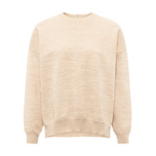 Buy Whistles Sparkle Cocoon Jumper, Peach Online at johnlewis.com