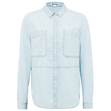Buy Whistles Large Pocket Shirt, Pale Blue Online at johnlewis.com