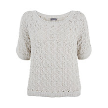 Buy Mint Velvet Chunky Stitch Knit Jumper, Stone Online at johnlewis.com