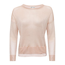 Buy Whistles Layered Hem Sparkle Jumper, Peach Online at johnlewis.com