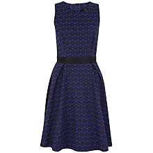 Buy Closet Button Back Jacquard Skater Dress, Purple Online at johnlewis.com
