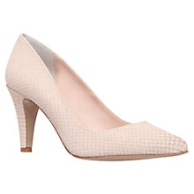 Buy Carvela Ashley Leather Court Shoes, Cream Online at johnlewis.com
