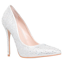 Buy Carvela Gemini Crystal Pointed Court Shoes, Silver Online at johnlewis.com
