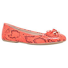 Buy Carvela Lamp Ballerina Pump Shoes, Orange Online at johnlewis.com