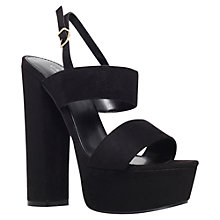 Buy Carvela Glamorous Platform Suedette Sandals Online at johnlewis.com