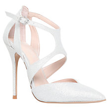 Buy Carvela Gabrielle Fabric Court Shoes, Silver Online at johnlewis.com