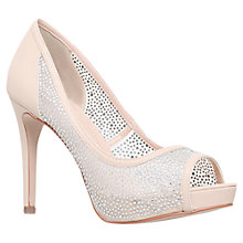 Buy Carvela Glossie Peep Toe Court Shoes, Nude Online at johnlewis.com