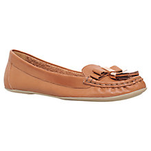 Buy Carvela Leaf Tassel Leather Loafers, Tan Online at johnlewis.com