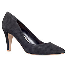 Buy Carvela Ashley Leather Court Shoes, Black Online at johnlewis.com