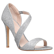 Buy Carvela Gee Open Toe Court Shoes, Silver Online at johnlewis.com