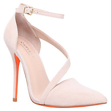 Buy Carvela Autumn Suede Ankle Strap Court Shoes, Nude Online at johnlewis.com
