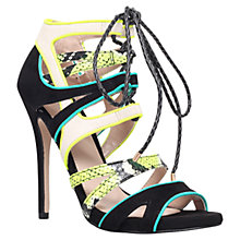 Buy Carvela Ghecko Peep Toe Leather Sandals, Green Comb Online at johnlewis.com