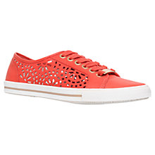 Buy Carvela Lantern Leather Cut Out Trainers, Red Online at johnlewis.com