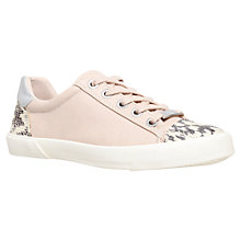Buy Carvela Snake Embossed Trim Trainers, Nude Online at johnlewis.com