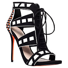Buy Carvela Giraffe Cut Away Lace Up Stiletto Sandals, Black/ Other Online at johnlewis.com