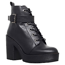 Buy Carvela Sweep Leather Block Heeled Ankle Boots Online at johnlewis.com