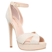 Buy Miss KG Ella Peep Toe Suedette Sandals, Nude Online at johnlewis.com