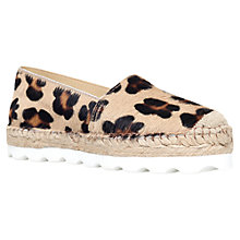 Buy Carvela Lido Leather Platform Espadrilles, Multi Online at johnlewis.com