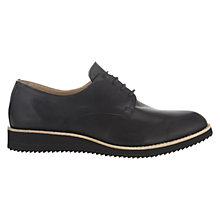 Buy Whistles Anya Leather Lace-up Shoes, Black Online at johnlewis.com