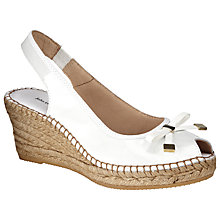Buy John Lewis Cruise Patent Leather Espadrille Wedges, White Online at johnlewis.com