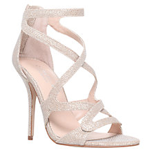 Buy Carvela Grove Glitter Multi Strap Sandals, Gold Online at johnlewis.com
