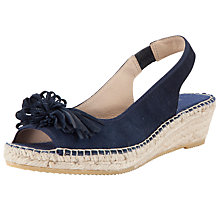 Buy John Lewis Elsie Suede Espadrille Sandals, Navy Online at johnlewis.com