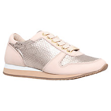 Buy Carvela Libby Metallic Leather Trainers, Bronze Online at johnlewis.com