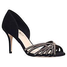 Buy Miss KG Phillipa Suede High Heel Sandals, Black Online at johnlewis.com