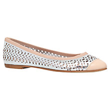 Buy Carvela Lemon Leather Ballerina Pumps, Silver Online at johnlewis.com