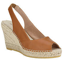 Buy John Lewis Pearl Leather Espadrille Wedges Online at johnlewis.com