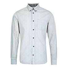 Buy HYMN Dawlish All Over Mini Dot Shirt, Pale Blue Online at johnlewis.com
