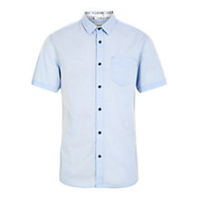 Buy HYMN Paignton Short Sleeve Mini Dot Shirt, Pale Blue Online at johnlewis.com