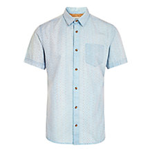 Buy HYMN Walton Mini Dot Short Sleeve Shirt, Pale Blue Online at johnlewis.com