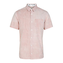Buy HYMN Paignton Short Sleeve Shirt, Red Online at johnlewis.com