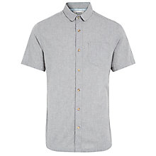 Buy HYMN Bude Short Sleeve Cotton Shirt, Grey Online at johnlewis.com
