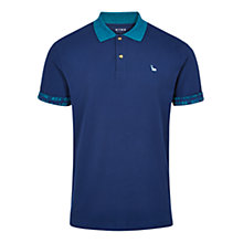 Buy HYMN Fowey Contrast Collar Polo Shirt, Navy Online at johnlewis.com