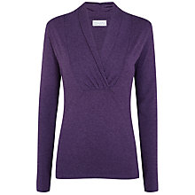 Buy Manuka Awakening Long Sleeve Top, Berry Melange Online at johnlewis.com