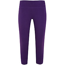 Buy Manuka Sun Salutation Capri Pants, Purple Online at johnlewis.com